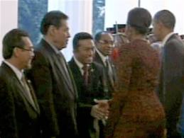 Michelle Obama's Handshake