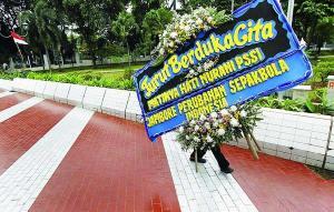 Karangan Bunga dukacita PSSI