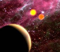 Kepler-16b with 2 suns